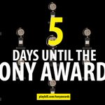 RT @playbill: FIVE DAYS until it's raining #TonyAwards! Hallelujah! https://t.co/3TbBusS0Rj