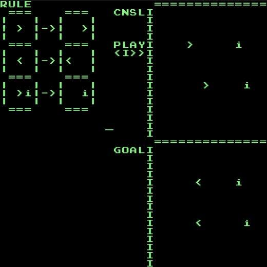 ルールを書いてセルオートマトンを制御するプログラミングパズルゲームconsomaton作った https://t.co/wtQpxBmcA1 https://t.co/qRl2Weiuvd