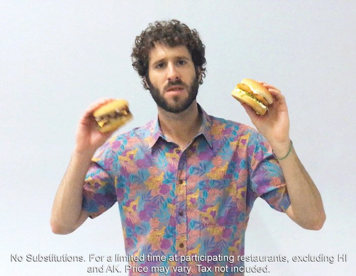 When @lildickytweets found out you can get two sandwiches, small fries, and a drink for $4. https://t.co/yW7cajBqxD