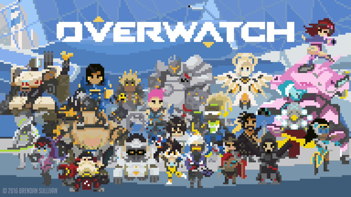 #PixelArt spotlight on these adorable #Overwatch sprites by Brendan Sullivan. https://t.co/DAUzDzhgsb https://t.co/rrFFjweRHK