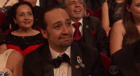 .@Lin_Manuel's reaction to @leslieodomjr's #TonyAwards win. This is friendship goals. @TheTonyAwards https://t.co/kqnG7tFDnA