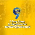 Remember,here are the 7 Easy Steps to register for #MTNProjectFame9.Think youre a star, dial 5900. Whatta feeling!🎤 https://t.co/n33RXjFmjJ