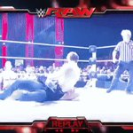 Thanks to a distraction from @JohnCena, @TheDeanAmbrose hits #DirtyDeeds for the win!!! #RAW  https://t.co/coiioZqlHc