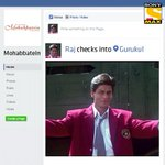 RT @SonyMAX: What if characters from #Mohabbatein came alive on Social Media? Let's take a look at it on #SocialMediaDay @iamsrk https://t.…