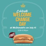 #WelcomeChange with us and get a FREE Burger McDo in select stores! Learn more at https://t.co/2GEgeEdB8D https://t.co/PFswQNiVS5
