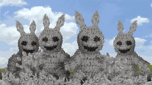 Rabbits made of rabbits https://t.co/8dkfTNNbr7