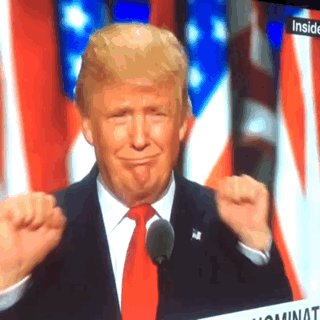 Here's the Trump double HJ in GIF form so you can send it to your loved ones. #RNCinCLE #SkiPoles #USA  ✊