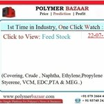 🅿🅱 1St time in Industry-One Click Watch-#Feedstock- $/mt (#Ethylene #Propylene #EDC #VCM #Styrene #PTA #MEG)  https://t.co/4TcH3yeq0p