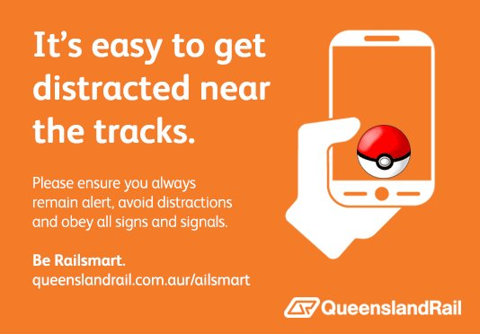 If you're trying to catch or battle #PokemonGo characters on our network pls remain vigilant of your surroundings. https://t.co/VqfdeJgtJF