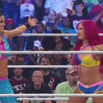 THERES A HUG! What a win for @itsBayleyWWE and @SashaBanksWWE... #WWEBattleground https://t.co/EjE7wZ9URH