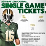 ICYMI: Single-game tickets are on sale. Get yours today: https://t.co/uq1WEygCW6 #SicEm https://t.co/YC7OAEBEov