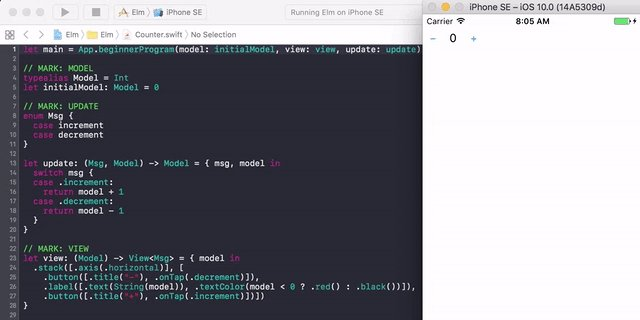 Weekend experimentation: the Elm architecture in Swift! #elmlang #swiftlang https://t.co/mnltMhorjV