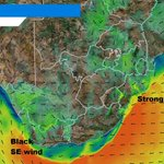 WARNING:gale force NEly winds along the east coast tonight. Strong winds over interior & black SEer on Tues @eNCA https://t.co/77R22Vp1zq