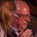 Bernie Sanders reacts as his brother, Larry, through tears, casts his #DNCinPHL delegate vote for his brother. https://t.co/mrq0cui61a