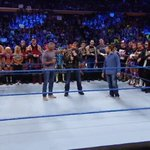 .@WWE Champion @TheDeanAmbrose meets with @ShaneMcMahon, @WWEDanielBryan and the #SDLive roster! https://t.co/WEghkGT2Gz