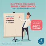 La generación de empleo que hemos logrado en #Jalisco es histórica. https://t.co/j6EjTrtDJH