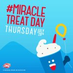 🍦ATTENTION🍦Today is #MiracleTreatDay at DQ! $ from purchases go to CMN - visit our Instagram for a contest! #beFTK❤️ https://t.co/aUHuu5punh