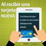 #BuenDía #Torreón Aquí algunas recomendaciones de seguridad para el uso de una tarjeta nueva. #Coahuila https://t.co/Y7uuhzwVVL
