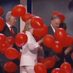Bill Clinton cannot contain his excitement over the balloons. #DemsInPhilly https://t.co/CrvV2Y5w74