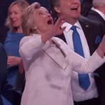 TFW you want to hit a balloon too and then you realize you're standing next to Hillary Clinton #DemsInPhilly https://t.co/zd59DUFxzK