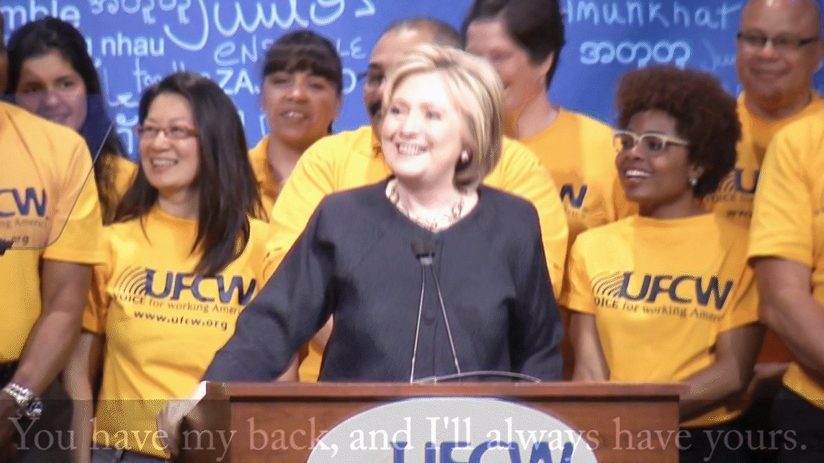 Congratulations to Hillary Clinton on winning the Dem Party nomination. She's always been a voice for UFCW members. https://t.co/Ocay3sKOHR