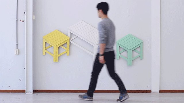 Fave Quip from Yesterday: This chair that stores as a 2D version of its 3D self https://t.co/vKg9aaqaN5 https://t.co/bkFKdCzSgZ
