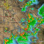 518 pm MST: Severe thunderstorms heading for Tucson. Expect damaging wind gusts, very heavy rain and hail. #azwx https://t.co/F6B6Eq0GSh