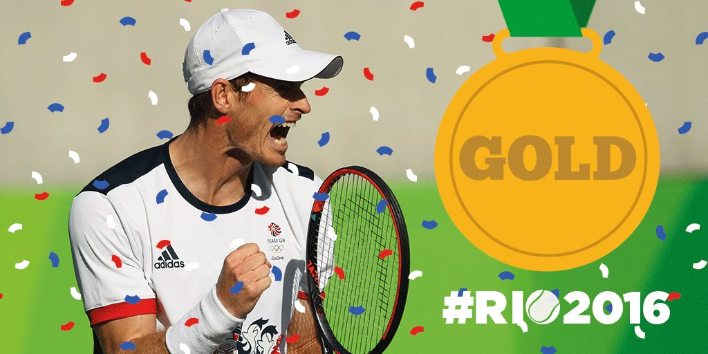 He's done it! @andy_murray is the #Rio2016 #Olympics Champion! #BackTheBrits #HistoryMaker https://t.co/s2iMKpaJjW