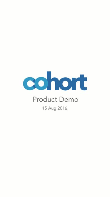 Cohort is in private beta. Here's a sneak peek! @CohortHQ https://t.co/1TGkxJ57ws