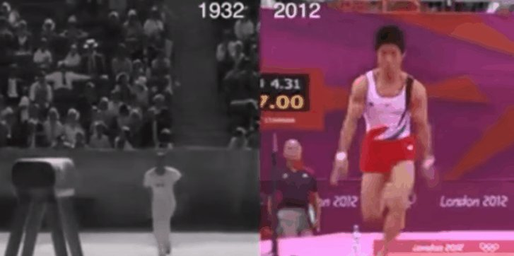 Things change. Olympic vault gold medal winner 1932 vs 2012 https://t.co/hLMJd8Qfhp