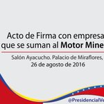 #AlianzaEstratégica @NicolasMaduro Vale la pena todo el esfuerzo que estamos haciendo para impulsar el #MotorMinero https://t.co/24UI7Hhs3G