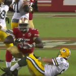 Tank with the sack! Loss of 10 on the play. 🍴 #GBvsSF https://t.co/qpWL45ifpv