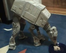 Anyway, here's a dog in an AT-AT costume. https://t.co/Uw2NkxnANV