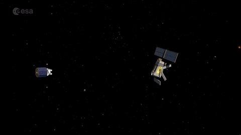 L 39 Esa Veut R Cup Rer Les Satellites En Fin De Vie Gr Ce Un Un Filet Spatial Espace