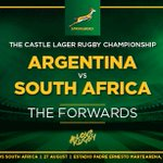 The #Springboks forward pack to face @unionargentina in Salta on Saturday. @CastleLagerSA @BlueTelecoms #LoveRugby https://t.co/3sVSqZdAlp