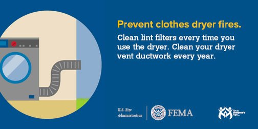 2,900 home clothes dryer fires are reported each year. The leading cause is failure to clean them. https://t.co/Ej8M4YZbb0