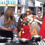 .@MarioLopezExtra and Gia know how to do #NationalWaffleDay! Watch their cooking video: https://t.co/rtSb8f17XJ https://t.co/BaXhQov1WT