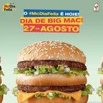 Hoje é dia de comer Big Mac. Vem pro #McDiaFeliz! https://t.co/LME4IvabF2
