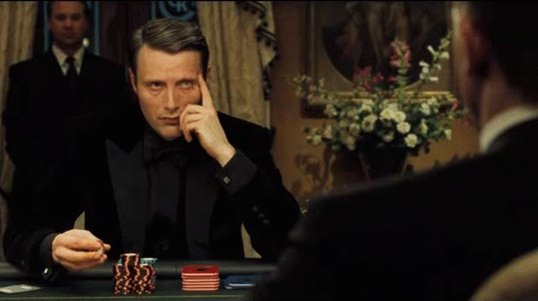 Waiting For The Weekend Like Le Chiffre Waiting For Bond In Casino