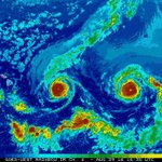 Two hurricanes - Cat3 #Madeline and Cat4 #Lester are just days out from #Hawaii. #trackingmadeline #trackinglester https://t.co/zghSd0EO6O