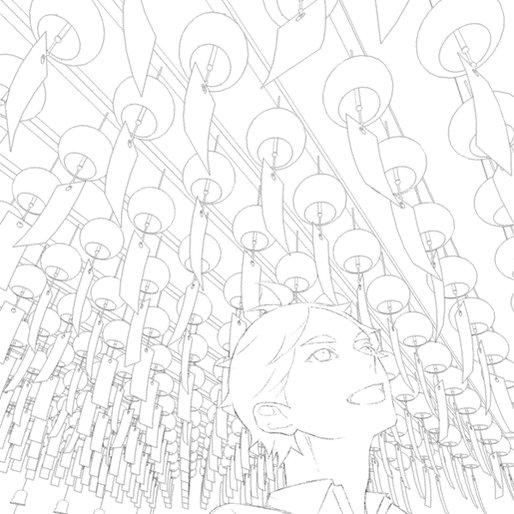 以前版権垢で描いたスガさんの絵、風鈴の部分の過程gif作りました。途中で貼っているテクスチャーは全て夜景の写真です。夜景の写真光ってるもの描くのにあまりにも便利。 https://t.co/0WonH4PVF5