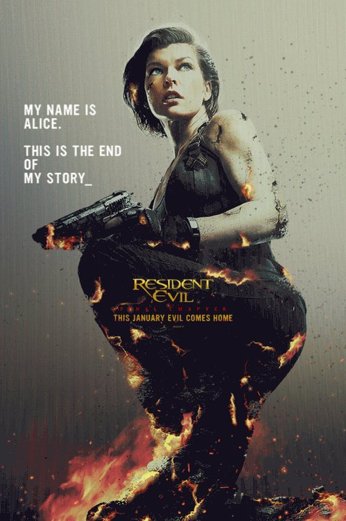 This is the end of her story. Don't miss #ResidentEvilMovie in theaters 1/27/17. https://t.co/rQuURpQ9WY