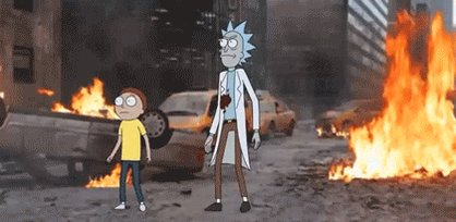 """""""Rick & Morty Visit: The Marvel Universe""""  Watch the full *burp* gif by u/critters on https://t.co/V1jqnUP2UA https://t.co/ghRQcFa8to"""