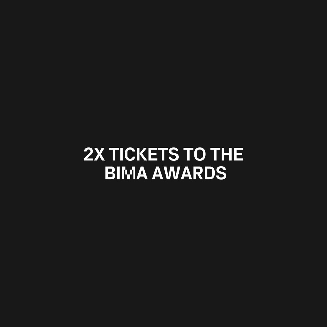 Win 2 x tickets to the #BIMAawards party. Follow + RT to enter. Our winner will be announced 6th Sept!