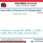 🅿🅱 1st time in industry -One Click Watch: #Polymer Offers (US$/MT) #PP #HDPE #LLDPE #LDPE #PVC #PS #ABS #EVA & #PET https://t.co/Fnm5WuGbI8