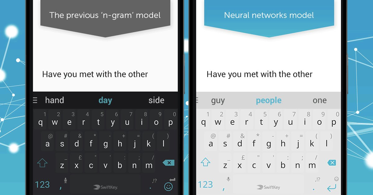 Meet the 1st ever #neuralnetwork powered keyboard in our latest SwiftKey for Android update! https://t.co/iR029mp0Ka https://t.co/MPJl4GerVr