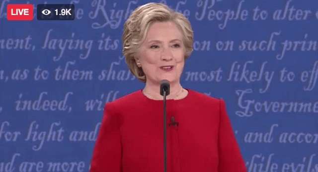 When you realize you just won the election. #DebateNight https://t.co/j5uYpESdI4