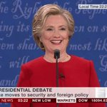 Clinton reacts to Trumps claim that she does not have a good temperament #debatenight https://t.co/l7RFZWTW63 https://t.co/zCBW3zlstD