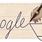 Today's #GoogleDoodle celebrates Ladislao José Biro, inventor of the ballpoint pen. 🖊 https://t.co/NO7SbjwqaB https://t.co/dgJ29DkELN