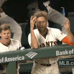 .@hunterpence was really happy that @JohnnyCueto got that bunt down. WATCH: 👉 https://t.co/7uQqjXGaYf https://t.co/V4oRD3fyRO